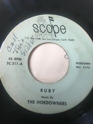 Unknown Country Bopper 45/ Hoedowners Ruby  Hear