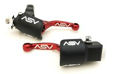 ASV Unbreakable F4 Red Shorty Clutch + Brake Levers Dust Covers KX 250F  450F