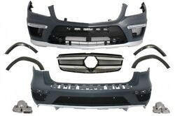 For Mercedes X166 2012+ GL-Class Body Kit  GL63 AMG Bumper + Exhaust + Wheel Arc