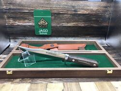 Winchester 100th Anniv. Bowie Knife And Walnut Handles-mint Presentation Box