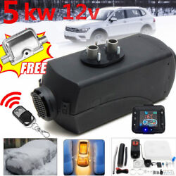 Car Trailer 5KW Air Diesel Heater Remote Controller LCD Switch+Silencer 10L Tank