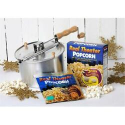 Wabash Valley Farms 24101 Whirley-pop And Movie Theater Style Popcorn Gift Set