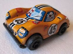 Vintage Sanko Tin Litho Toy Friction 45 Ford Race Car Made In Japan Small