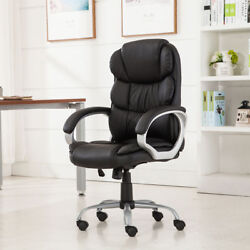 High Back Pu Leather Executive Office Desk Task Computer Boss Luxury Chair Blac6
