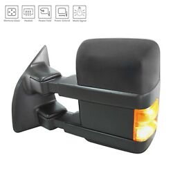 Fits 2010-2016 Ford Pickup F450 Superduty Power Mirror Heated Left Hand Driver