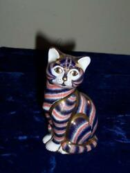 ROYAL CROWN DERBY LIII IMARI CAT PAPERWEIGHT SILVER STOPPER 5 18