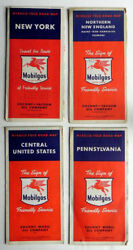 1951 Socony Vacuum Mobilgas Gas Station 4 Vintage Road Maps Ny Pa N Eng Cen Sts