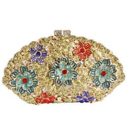 Digabi Flower and Butterfly Women Crystal Evening Clutch Bags
