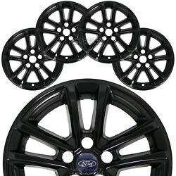 4 BLACK 15 18 Ford Focus SE 16quot; Wheel Covers Rim Skins Hub Caps fit Alloy Wheels