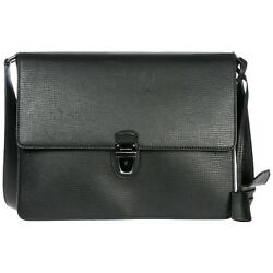 DOLCE&GABBANA MEN'S LEATHER BAG HANDBAG CROSS-BODY MESSENGER NEW BLACK E60