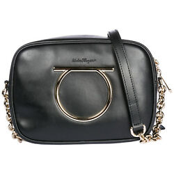 SALVATORE FERRAGAMO WOMEN'S LEATHER CROSS-BODY MESSENGER SHOULDER BAG CAMERA AF7