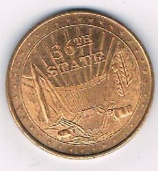 Great Seal Of The State Nevada On Front 36th State Hoover Dam Commemorative Coin