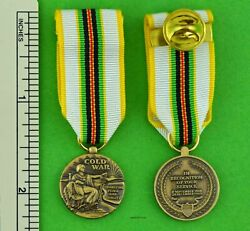 Cold War Victory Miniature Medal With Holder Bar - Veterans 1946-1991 - Mini