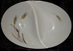 Sango Harvest Vintage/antique China Divided Serving Dish 11 1/2 Inches