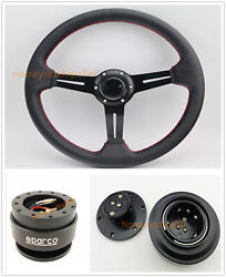 350mm Universal Bk Dish Flat Dish Racing Steering Wheel And Quick Release And Horn