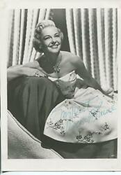 Vivian Blaine Autograph Signed Photo Actress Singer Guys And Dolls State Fair