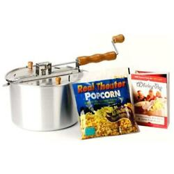 Wabash Valley Farms 25008a 6 Qt Original Whirley Pop Stove Top Popcorn Popper