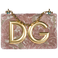 DOLCE&GABBANA WOMEN'S LEATHER CROSS-BODY MESSENGER SHOULDER BAG DG GIRLS PIN 621