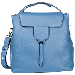 TOD'S WOMEN'S HANDBAG CROSS-BODY MESSENGER BAG PURSE JOY BLUE A13