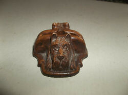 Vtg Ornawood Scottish Terrier Dog Pen Rest Pen Stand with Original Foil Label
