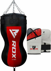 Rdx Boxing Heavy Filled Punch Bag Angle Body Upper Cut Mma Gloves Muay Thai Os