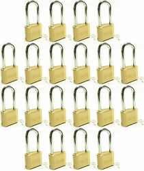 Master Lock Solid Brass 175lh Lot Of 20 Set To Your Own Combination Padlock