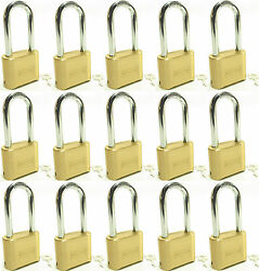 Master Lock Solid Brass 175lh Lot Of 15 Set To Your Own Combination Padlock
