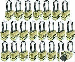 Combination Lock Set Master 1175lh Lot 23 Resettable Long Brass Sealed Carbide