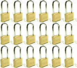 Master Lock Solid Brass 175lh Lot Of 18 Set To Your Own Combination Padlock