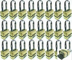 Combination Lock Set Master 1175lh Lot 24 Resettable Long Brass Sealed Carbide