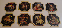 1950and039s Indians And Westerners Bread Labels Series 2 Complete Set Of 32