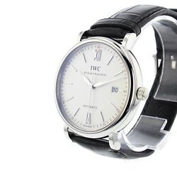 New Portofino Automatic Silver Dial Stainless Steel 40mm Mens Watch Iw356501