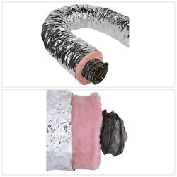 Flexible Duct Insulated Heating Air Conditioning Ductwork Silver Jacket R6 25Ft