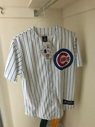 Mlb Mens Majestic Chicago Cubs Home Jersey Size Medium