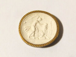 19thc Intaglio Plaster Molded Tassie Victory Killing A Cow Grand Tour Seal 41