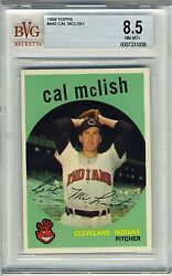 1959 Topps 445 Cal Mclish Bvg 8.5 Nm-mt+ Cleveland Indians