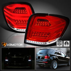 Red For 2006 2011 Mercedes Benz W164 ML Class LED Bar Tail Lights Brake Lamps $244.38