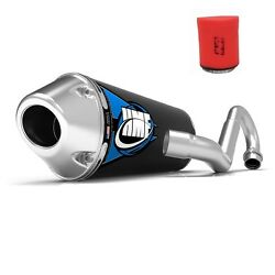 Hmf Competition Comp Full System Exhaust Elliptical + Uni Air Filter Trx450r 04