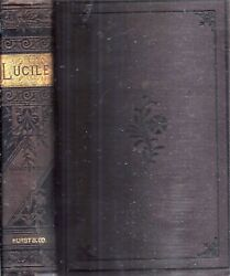 1880 Lucille Epic Poem By Owen Meredith By Viceroy Of India Illustrated Gift