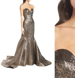2018 Antique Gold Mermaid Evening Dresses Long Prom Party Gowns