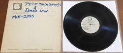 Pete Townshend And Ronnie Lane Rough Mix Rare Acetate Promo 1977 Mastering The Who