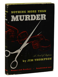 Nothing More Than Murder By Jim Thompson First Edition 1949 Crime Novel Pulp