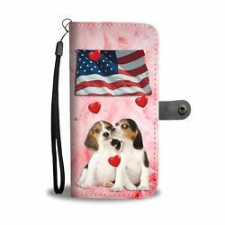 Cute Beagle Dog Print Wallet Case-Free Shipping-ND State