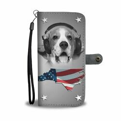 Cute Beagle Dog Print Wallet Case- Free Shipping-NC State