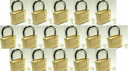 Master Lock Solid Brass 175 Lot 16 Set To Your Own Combination Padlock