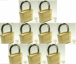 Master Lock Solid Brass 175 Lot 9 Set To Your Own Combination Padlock