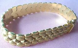 Old Stock 17.80gr Bracelet 14k Solid Yellow Gold Seven And 1/4 Inch Long Bskais