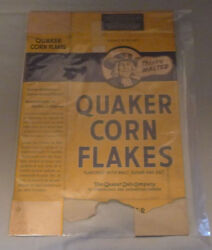 1940's Corn Flakes Cereal Box Vought Plane Advertising Empty Canadian Box