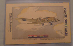 1940's Corn Flakes Cereal Boeing Flying Fortress Plane Advertising Back Box