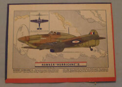 1940's Corn Flakes Cereal Hawker Hurricane Plane Advertising Back Box